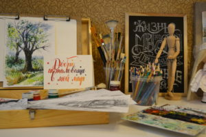 этюдник рисунок кисти карандаши рукоделие