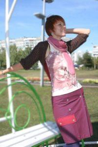 девушка образ костюм сшитый курс крой и шитьё