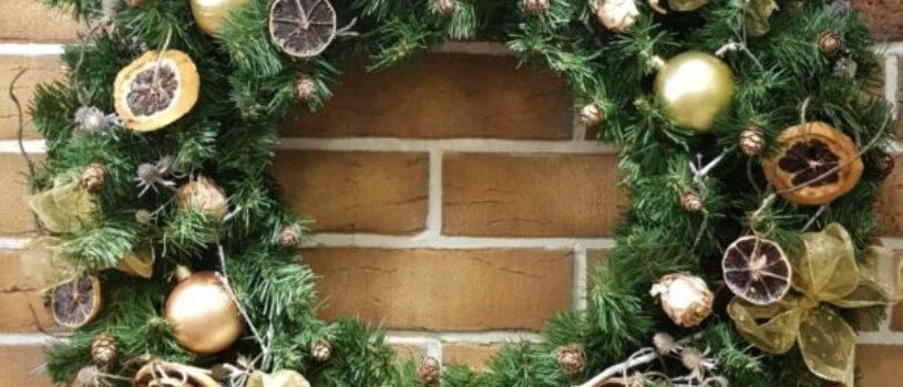 МастерКласс «Рождественский венок». 22 декабря (воскресенье) 2019 г.